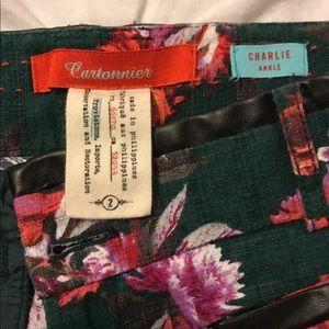 Anthropologie Cartonnier Women's Floral Pants